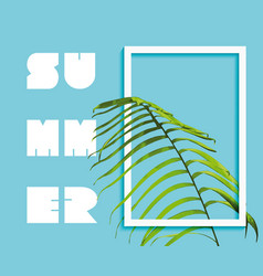 Summer paradise design of exotic jungle palm tree vector