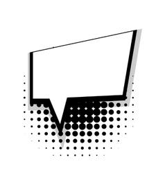 Template comic speech square simple bubble vector
