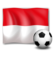 The flag of monaco with a soccer ball vector