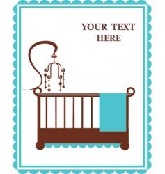 Vintage baby crib vector