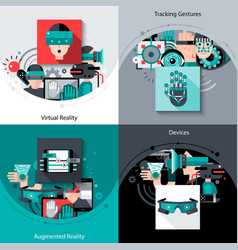 Virtual augmented reality set vector