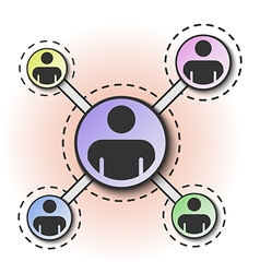 Social network people connection vector