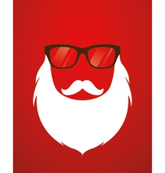 Santa beard and glasses vector