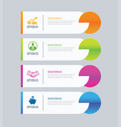 Modern tab index infographic options template vector