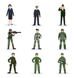 army soldiers set vector image