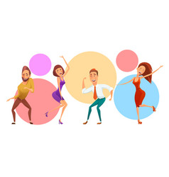 Group of people on corporate party vector