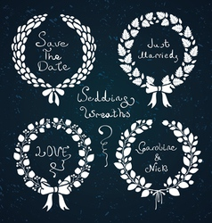 Wedding wreaths vector
