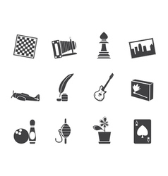 Leisure and holiday icons vector