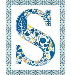 Blue letter s vector