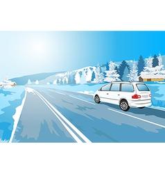 Alps car vector image