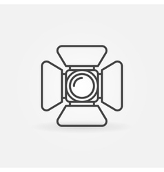 Spotlight icon or logo vector