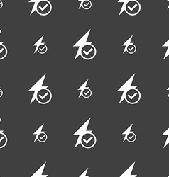 Photo flash icon sign seamless pattern on a gray vector