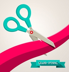 Grand opening banner retro flat design with vector