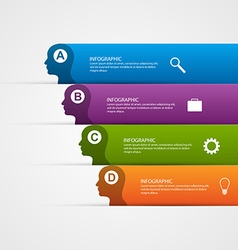 abstract business infographic template for vector image vector image