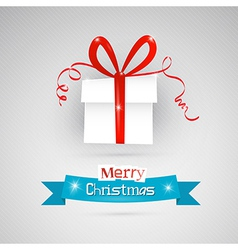 Abstract merry christmas theme - present on grey vector