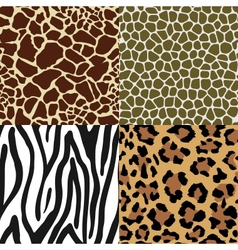 Animal Skin Patterns vector image vector image