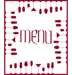 Bar menu background vector image vector image