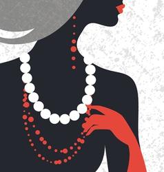 Beautiful fashion woman silhouette vector
