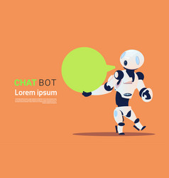 Chat bot robots virtual assistance element of vector
