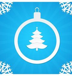 christmas postcard ball 2 vector image vector image