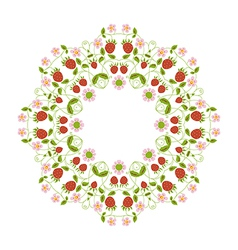 circular ornament berries vector image