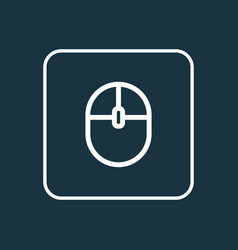 computer mouse outline symbol premium quality vector image