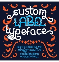 Custom retro typeface vector