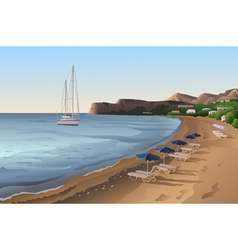 Empty beach at the morning vector image