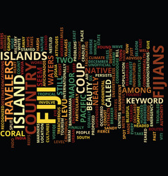 Fiji wildlife text background word cloud concept vector