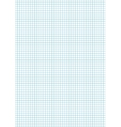 Five millimeters cyan grid on a4 vertical sheet vector image vector image