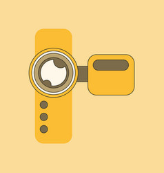 Flat icon on background camcorder vector