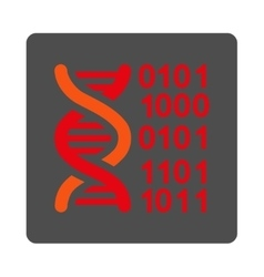Genome code rounded square button vector