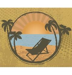 grunge summer frame vector image vector image