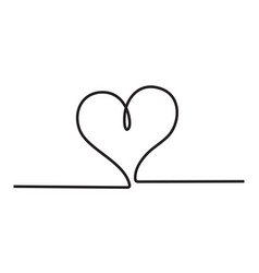 heart icon stylish line art sign vector image vector image