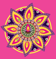 indian kolam vector image