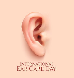 International ear care day background vector