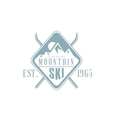 Mountain Ski Emblem Design vector image vector image