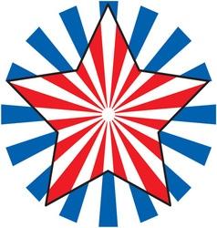 Patriotic star vector