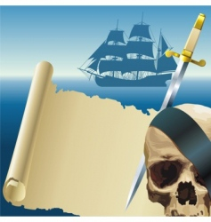 pirates parchment vector image vector image