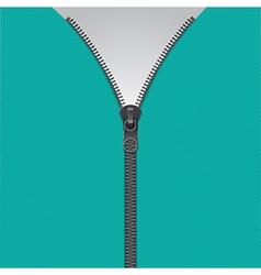Realistic zipper template vector