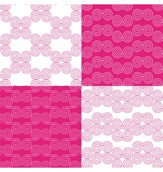Set of ethnic greek geometric patterns vector