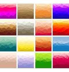 Set polygon abstract vector image