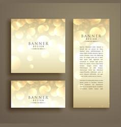 Shiny bokeh card design template vector