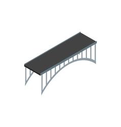 Span bridge icon isometric 3d style vector image vector image