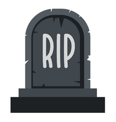 Stone tombstone rip icon isolated vector