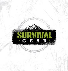 Survival gear extreme outdoor adventure creative vector