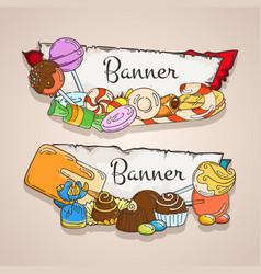 sweet banners set vector image