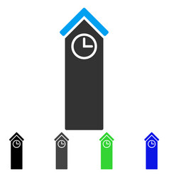 Time tower flat icon vector