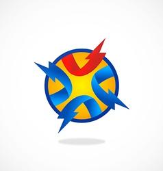 Volt circle abstract logo vector