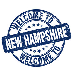Welcome to new hampshire blue round vintage stamp vector
